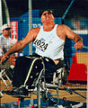 Terry Giddy throwing the discus at the 1996 Paralympic Games..jpg