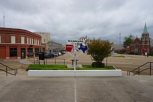 State Line Avenue - State Line Avenue divides Texarkana between Texas to the west and Arkansas to the east.