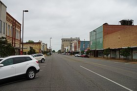 Broad Street in Texarkana, Arkansas, in 2016