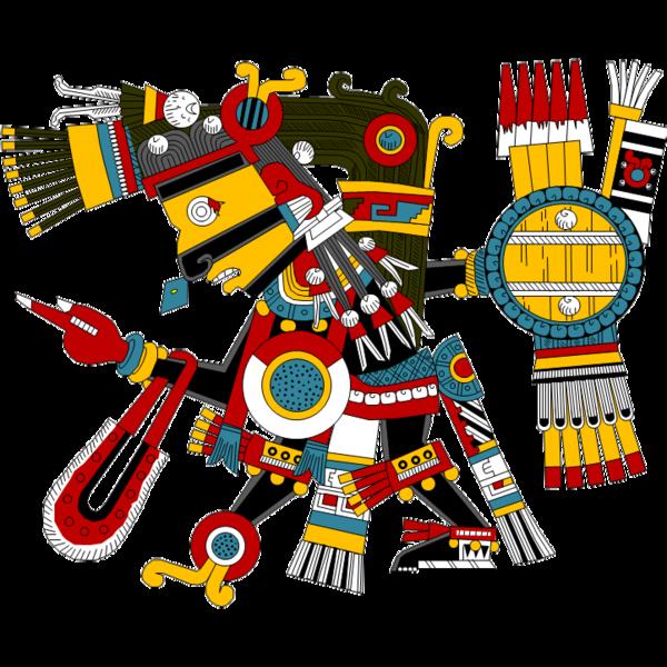 Ilustración gratis - Dios azteca Tezcatlipoca