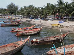 Typical Malecón fishing boats