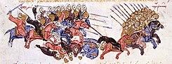 The Arabs drive the Byzantines to flight at Azazion.jpg