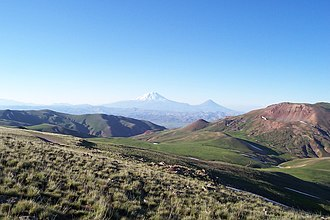 Armenian Highlands - The Armenian Mountain Range near the Turkey-Iran border