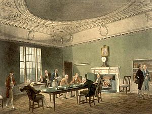 Board of Trade (Privy Council) - The Board of Trade circa 1808.
