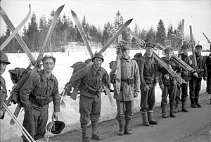 History of skiing - British troops in Norway, April 1940