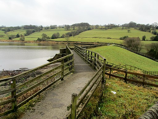 The Dam of Walverden Reservoir (geograph 2240151)