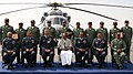 The Defence Minister, Shri A. K. Antony inducted the Multi-Purpose MI-17 V5 Helicopter into the Indian Air Force, at a function, in New Delhi on February 17, 2012. Air Chief Marshal N.A.K. Browne is also seen (1).jpg