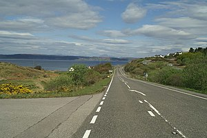 A830 road - The A830 between Arisaig and Mallaig