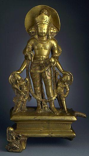 Vaikuntha Chaturmurti - Vaikuntha Chaturmukha, 9th century, Kashmir in Los Angeles County Museum of Art