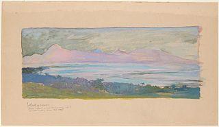 The Island of Moorea Looking across the Strait from Tahiti, January 1891