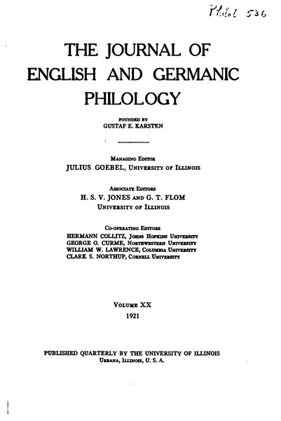 File:The Journal of English and Germanic Philology Volume 20.djvu
