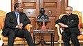 The King Maswati III of Swaziland meeting the President, Shri Pranab Mukherjee, at Rashtrapati Bhavan, in New Delhi on October 27, 2015.jpg