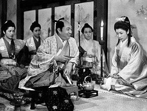 The Life of Oharu - Oharu and fictional daimyō lord Harutaka Matsudaira (Toshiaki Konoe)
