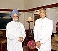 The Lt. Governor of Delhi Shri B.L. Joshi calls on the Prime Minister Dr. Manmohan Singh in New Delhi on June 11, 2004.jpg