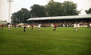 Plainmoor - Main Stand at Plainmoor in 1981
