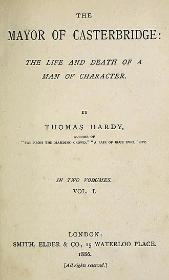 The Mayor of Casterbridge - First edition title page