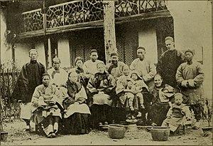 Gan Chinese-speaking people - A household in Yushan County, Jiangxi, 1898.