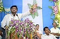 The Minister of State for Heavy Industries & Public Enterprises, Shri Babul Supriyo addressing at a function for dedicating to the nation a number of rail projects, at Naihati, North 24 Parganas, in West Bengal.jpg
