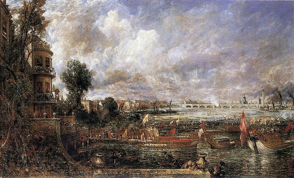 The Opening of Waterloo Bridge seen from Whitehall Stairs John Constable.jpeg