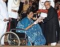 The President, Shri Pranab Mukherjee presenting the Padma Shri Award to Ms. Supriya Devi, at an Investiture Ceremony-II, at Rashtrapati Bhavan, in New Delhi on April 26, 2014.jpg