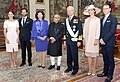 The President, Shri Pranab Mukherjee with the King, Carl XVI Gustaf, Queen, Princess Victoria, His Royal Highness Prince Carl Philip and Ms. Sofia Hellqvist, at Stockholm, in Sweden on May 31, 2015.jpg