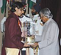 The President Dr. A.P.J. Abdul Kalam presenting the Arjuna Award -2005 to Ms. Shikha Tandon for Swimming, at a glittering function in New Delhi on August 29, 2006.jpg
