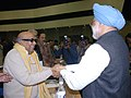 The Prime Minister, Dr. Manmohan Singh Shaking hands with the Chief Minister of Tamilnadu Shri M.Karunanidhi, at the 52nd National Development Council Meeting at Vigyan Bhawan, New Delhi on December 9, 2006.jpg