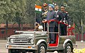 The Prime Minister, Dr. Manmohan Singh reviewing the Passing Out Parade at the Platinum Jubilee Course of Indian Military Academy, in Dehradun, on December 10, 2007.jpg