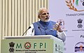 The Prime Minister, Shri Narendra Modi addressing the gathering at the inauguration ceremony of the World Food India 2017, in New Delhi on November 03, 2017.jpg