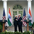 The Prime Minister, Shri Narendra Modi and the President of United States of America (USA), Mr. Donald Trump at the Joint Press Statement, at White House, in Washington DC, USA on June 26, 2017 (2).jpg