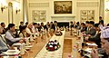 The Prime Minister, Shri Narendra Modi at the delegation level talks with the Prime Minister of Nepal, Mr. Pushpa Kamal Dahal, at Hyderabad House, in New Delhi on September 16, 2016.jpg