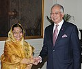 The Prime Minister of Malaysia, Dato' Sri Mohd Najib Tun Abdul Razak meeting the President, Smt. Pratibha Devisingh Patil, in New Delhi on January 20, 2010 (2).jpg