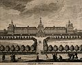 The Royal Hospital, Chelsea; viewed from the Surrey bank, wi Wellcome V0013182.jpg