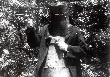 Actor playing the bushranger Ned Kelly in The Story of the Kelly Gang (1906), the world's first feature film The Story of the Kelly Gang 1906.jpg