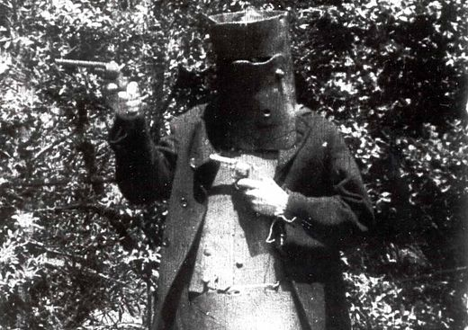 Het personage Ned Kelly in The Story of the Kelly Gang uit 1906.