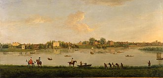 Twickenham - The Thames at Twickenham c.1700, depicted by Peter Tillemans