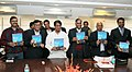 """The Union Minister for Civil Aviation, Shri Ajit Singh releasing the Air India's magazine """"Shubh Yatra"""", in New Delhi on February 08, 2013.jpg"""