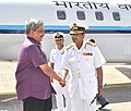 The Union Minister for Defence, Shri Manohar Parrikar being received by the Commander-in-Chief Andaman & Nicobar Commandant HQANC Vice Admiral, Pradeep K. Chatterjee, in Port Blair on November 12, 2015.jpg