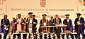 The Vice President, Shri M. Hamid Ansari releasing 10 books at the 25th Annual Convocation of National Law School of India University (NLSIU), in Bengaluru.jpg
