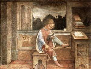 The Young Cicero Reading, 1464 fresco, now at the Wallace Collection.