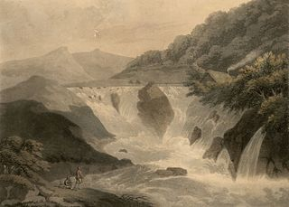The fall of the river Machno, Carnarvonshire