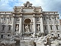 """The fountain of Trevi (1732-1762) in restoration - Rome - Architect Nicola Salvi; Statues """"Ocean"""" by Pietro Bracci (1762); """"Abundance"""" (left) and """"Healthiness"""" (right) by Filippo Valle (22583768346).jpg"""