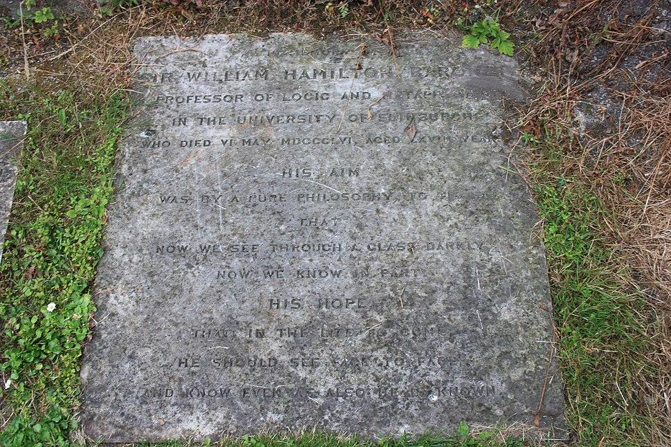 The grave of Sir William Hamilton, St Johns Church, Princes Street