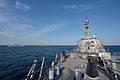 The guided missile destroyer USS Ross (DDG 71) transits in formation with other participating ships during exercise Sea Breeze 2014 in the Black Sea Sept 140908-N-IY142-019.jpg