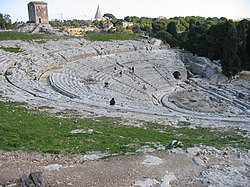 The Greek theatre of Syracuse.
