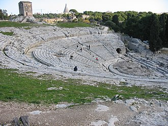 Livius Andronicus - Ancient theater at Syracuse, Sicily, originally Greek