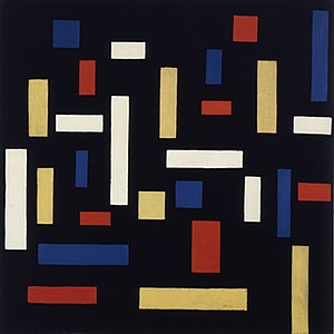 Geometric abstraction - Theo van Doesburg, Composition VII (the three graces), 1917 (Neo-Plasticism)