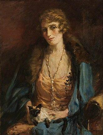 Castle Fraser - Portrait of Theodora Mackenzie Fraser.
