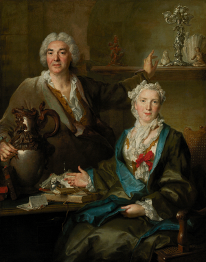 Thomas Germain - Thomas Germain and his wife Anne-Denise Gauchelet in a 1736 portrait by Nicolas de Largillière.