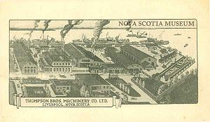 Thompson Bros. Machinery Co. Ltd. - Postcard illustration of the facilities in 1930.